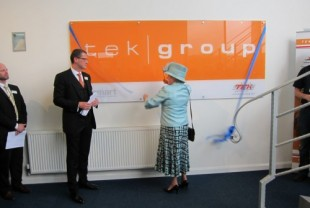 Lord-Lieutenant of Leicestershire opens new TEK Group factory in Rearsby